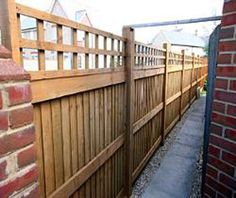 close board fencing Fence Gate, Fences, Close Board Fencing, Outdoor Ideas, Outdoor Spaces, Garden Design Pictures, Garden Privacy, Allotment, Dividers