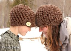 Matching boy/girl sibling caps by HomenStead, $34.00