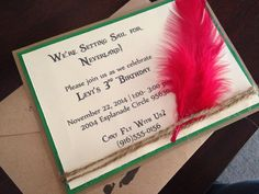 Neverland or Peter Pan Invitations by HillmanHandmade on Etsy