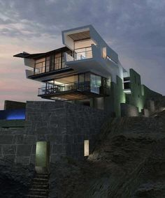 Most impressive of the beach house design I ever seen, that is the great architecture building of this house. This is Lefevre House, an absolutely dramatic Architecture Design, Residential Architecture, Amazing Architecture, Contemporary Architecture, Modern Contemporary, Installation Architecture, Architecture Interiors, Modern Glass, House Interiors