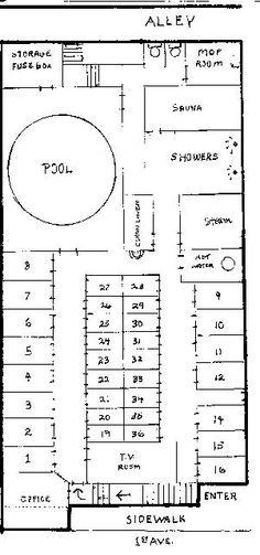South End Steam Baths layout 20 Tv, Steam Bath, City Boy, Books For Boys, Queen, Baths, Sheet Music, Floor Plans, Layout