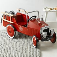 Pedal Fire Engine - Red from The White Company