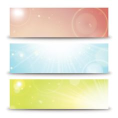 Abstract Shining Banners Vector Art