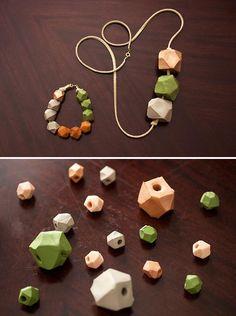 DIY Fall Geometric Bead Bracelets