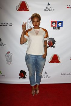 Chrisette Michele attended the Red carpet Events LA Luxury Gift Style Lounge in Honor of 2014 56th Annual Grammy Awards for Nominees and Presenters  CHRISETTE MICHELE Nominated for best R&B ALBUM  http://www.youtube.com/watch?v=Ng0svHgAZB4