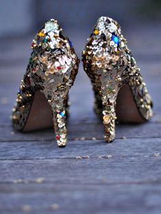 Jewel Embellished Shoes DIY