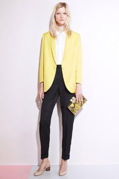 Stella McCartney - Spring 2012  High rise straight legs & boxy jacket!