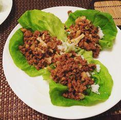 PF CHANG INSPIRED LETTUCE WRAPS  _ AUSTIN360 http://food.blog.austin360.com/2016/07/05/austin360cooks-jicama-tacos-knocking-off-p-f-changs-lettuce-wraps/