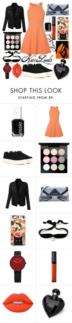 """🍁Autumn 🎃Party🍂"" by karilooks ❤ liked on Polyvore featuring Essie, Elizabeth and James, Eytys, MAC Cosmetics, LE3NO, Karl Lagerfeld, Casetify, Aamaya by Priyanka, Lime Crime and Lipsy"