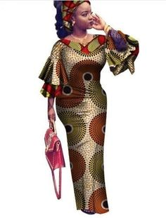 African Clothing Traditional Rushed Cotto,New Fashion Style African Women Bazin Riche Plus Size Dress M-6xl