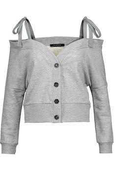 W118 by Walter BakerIsabel cold-shoulder cotton-blend jersey top