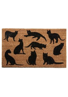 Purr-fect Presentation Doormat. We may be getting this very soon...