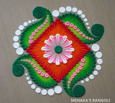 Rangoli Designs Peacock, Easy Rangoli Designs Diwali, Simple Rangoli Designs Images, Free Hand Rangoli Design, Rangoli Ideas, Colorful Rangoli Designs, Rangoli Borders, Rangoli Border Designs, Kolam Designs
