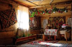 """Traditional houses in rural Romania (case traditionale romanesti) *** Upon arriving in her new home country in the young wife of Prince Carl of Romania noticed in her writings: """"Every R… Cozy Cottage, Cozy House, Decor Interior Design, Interior Decorating, Rural House, European Home Decor, European Apartment, Home Decor Online, Eastern Europe"""