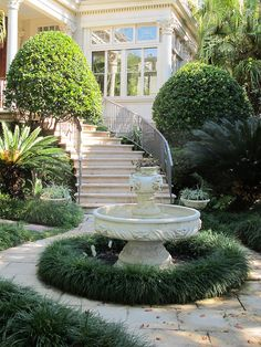 New Orleans - This was a lovely courtyard in the Garden District (I took the photo)