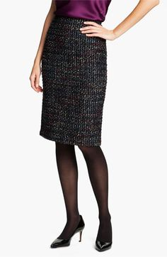 Lafayette 148 New York 'Cambria Tweed' Slim Skirt available at #Nordstrom