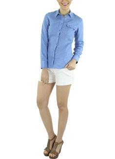Blusa Azara #moda #lino #SS2015 www.abito.com.mx
