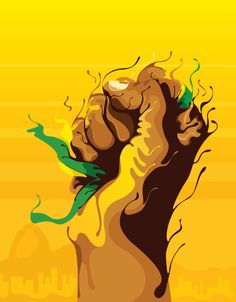 World Cup FIFA 2014 - Rio Host City Poster proposal by Marcos Behrens, via Behance