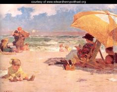 At the Seaside - Edward Henry Potthast - www.edwardhenrypotthast.org