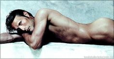 Mads Mikkelsen...a former dancer and still maintaining his form...beautiful body...beautiful man...wonderful actor.