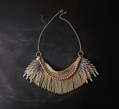ombre fringe necklace by weareVANDAL