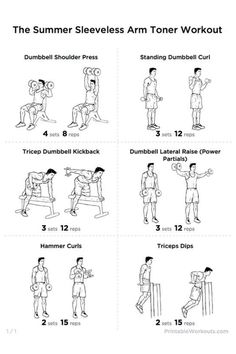 Cake Vs Scales: Fit Tip Friday - Arm workout / Weights Thigh Toning Exercises, Toning Workouts, Workout Routines, Summer Workouts, Chest Exercises, Daily Workouts, Stretches, Frozen Shoulder Exercises, Shoulder Workout
