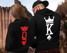 King and Queen King Queen Hoodies Couple Hoodies King Queen King And Queen Sweatshirts, King Queen Shirts, Matching Couple Outfits, Matching Couples, Matching Couple Hoodies, Matching Sweaters, Teen Couples, Couples Images, Hoodie Sweatshirts