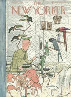 Ludwig Bemelmans : Cover art for The New Yorker 956 - 12 June 1943