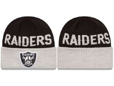 b6adbd782c8 2017 Winter NFL Fashion Beanie Sports Fans Knit hat Oakland Raiders Beanie