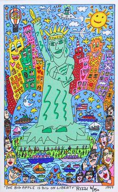 James Rizzi | James Rizzi: The Big Apple Is Big On Liberty