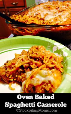 Oven Baked Spaghetti Casserole recipe is a great comfort meal that you can prep ahead of time. It makes a great freezer meal recipe!