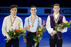 Alexei BYCHENKO, Javier FERNANDEZ and Maxim KOVTUN || 2016 European men's medalists (1400×932)