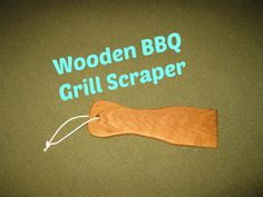I found tiny wire bristles on my barbecue from the wire cleaning brush. I have read reports of people rushed to the hospital because these bristles get into the food and are consumed. I decided to make my own grill scraper out of wood.