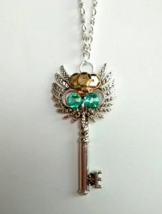 Hey, I found this really awesome Etsy listing at https://www.etsy.com/listing/236607851/owl-key-necklace-key-charm-necklace