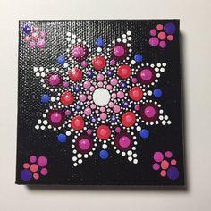 Mandala sobre lienzo, meditación Mandala, punto Art, curación, #339 de pintado a mano