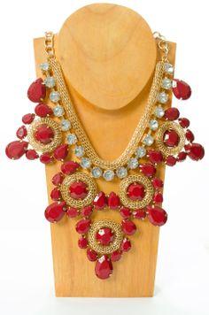 Garnet and Gold Statement Necklace #fsu #floridastate #gonoles #seminoles