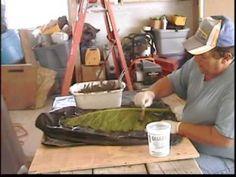 hypertufa leaf - 1 part portland cement, 1 part sawdust, and 1 part perlite