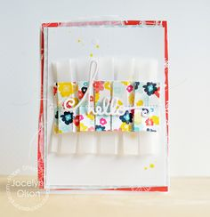Pleated Thanks - Scrapbook.com - Lovely layered cards!