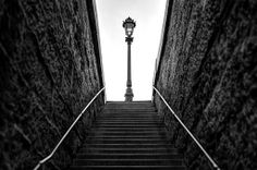 Paris - lamppost and stairs
