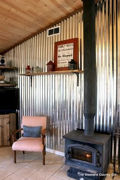 Ways to Decorate with Corrugated Metal                                                                                                                                                                                 Más