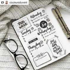 """1,899 mentions J'aime, 6 commentaires - Bullet Journal Inspire (@bujoinspire) sur Instagram : """"#Repost @couleursduvent (@get_repost) ・・・ // can you believe how fast the time is going? here's the…"""""""