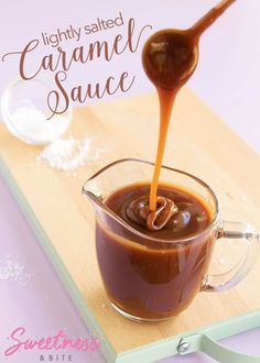 Lightly Salted Caramel Sauce ~ a rich, dark caramel sauce with just the right amount of salt. Includes troubleshooting tips for the perfect caramel sauce. Caramel Drip Cake, Caramel Ganache, Salted Caramel Sauce, Drip Cake Tutorial, Gourmet Recipes, Cooking Recipes, Desert Recipes, Ganache Recipe, Novelty Birthday Cakes