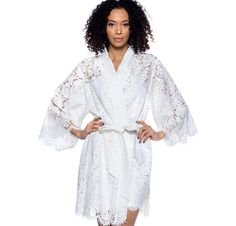bridal lace robes for getting ready b448ca3e8