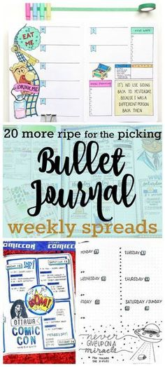 Feast your eyes on 20 more DELICIOUS Bullet Journal Weekly Spreads | Zen of Planning | Planner Peace and Inspiration