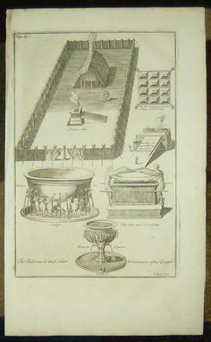 1757 COPPER PLATE BIBLE ENGRAVING/THE TABERNACLE/ARK OF THE COVENANT! | eBay