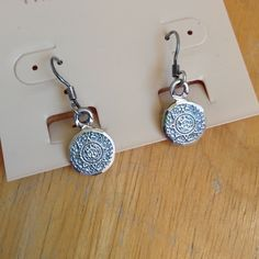 Sale! Silver Earrings .925 stamped silver. Adorable, cut edges give a sparkle effect Jewelry Earrings