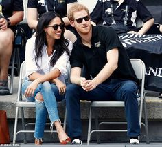 Royal insiders claim that Prince Harry and Meghan Markle (pictured at the Invictus Games) are as 'good as engaged' and reveals that the couple are talking openly about wedding plans Prince Harry And Megan, Prince Henry, Harry And Meghan, Prince William, Princess Meghan, Princess Diana, Meghan Markle, Duke And Duchess, Duchess Of Cambridge