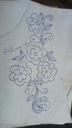 Ribbon Embroidery Tutorial, Border Embroidery Designs, Floral Embroidery Patterns, Hand Embroidery Flowers, Embroidery On Clothes, Bead Embroidery Jewelry, Hand Embroidery Stitches, Embroidery Fashion, Beaded Embroidery