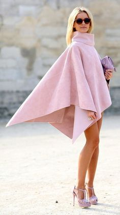 Stunning cape in blush pink / karen cox.