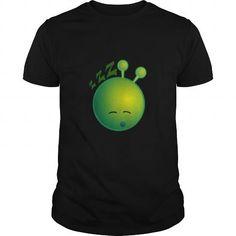 Cool Sleepy Alien Monster ET Extraterrestrial Martian Green Man Emoji for Women, Men and Kids 15 SHIRT T shirts